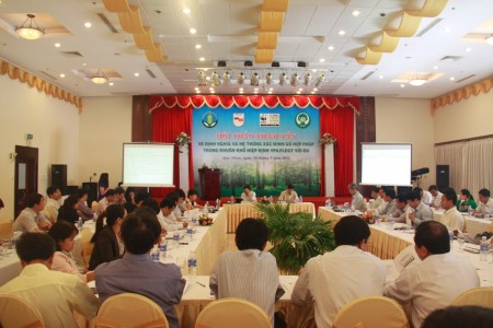 Consultation workshop on Timber legality definition and Timber Legality Assurance System within the framework of VPA/FLEGT with EU in Quy Nhon