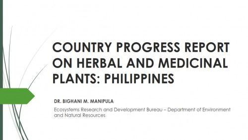 Philippines Progress Report on HMP