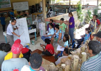 DOST-FPRDI trains PWDs and IPs on bamboo handicraft making